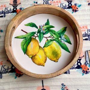🥭 Wooden Mango Enamel Serving Tray 🥭